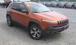 To learn more about the vehicle, please follow this link: http://used-auto-4-sale.com/108762241.html ***CLEAN VEHICLE HISTORY REPORT***, ***ONE OWNER***, and ***PRICE REDUCED***. Cherokee Trailhawk, 3.2L V6, 9-Speed 948TE Automatic, 4WD, Orange, ABS