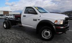 To learn more about the vehicle, please follow this link: http://used-auto-4-sale.com/105573775.html ***CLEAN VEHICLE HISTORY REPORT***, ***ONE OWNER***, and ***PRICE REDUCED***. Ram 5500HD Tradesman, 6.4L V8, 6-Speed Automatic, 4WD, and White. Stop