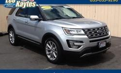 To learn more about the vehicle, please follow this link: http://used-auto-4-sale.com/108660046.html Ford Certified! 2016 Ford Explorer Limited in Ingot Silver, Bluetooth for Phone and Audio Streaming, Rearview Camera, Navigation, Heated and Cooled