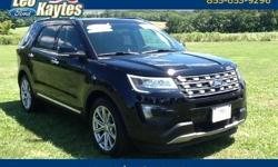 To learn more about the vehicle, please follow this link: http://used-auto-4-sale.com/108699703.html Ford Certified! 2016 Ford Explorer Limited in Shadow Black, Bluetooth for Phone and Audio Streaming, Rearview Camera, Dual Panel Moonroof, Navigation,