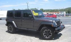 To learn more about the vehicle, please follow this link: http://used-auto-4-sale.com/108762218.html ***CLEAN VEHICLE HISTORY REPORT***, ***ONE OWNER***, and ***PRICE REDUCED***. Wrangler Unlimited Rubicon, 3.6L V6 24V VVT, 6-Speed Manual, 4WD, and Black.