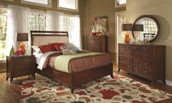Free shipping within the 5 boroughs of NYC ONLY! All other areas must email or call us for a freight quote. TOLL FREE 1-877-336-1144 www.allfurniture.ecrater.com Item Description This collection is the embodiment of hominess and comfort. Its rich cherry