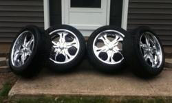 "20"" Chrome Rims w/tires Goodyear Eagle GT II P275/45 R20 Fits any GM/Chevy 6 Lug 1500 Series Only... -Escalade -Tahoe -Denali -Suburban -Sierra -Avalanche 97-05 Nissan Pathfinder Asking Price $1,000.00 or Best Offer Serious Inquiries only please. Cash"