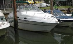 Please contact boat owner Matthew at 516-978-4859. 1999 Four Winns 258 Vista, 5.7 Liter Volvo Penta, stainless steel duo props, windless, AC, recently new water heater, new batteries, full Bimini/camper back enclosure, mooring cover (3yrs old), upgraded