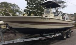25' Hydro Sport center console 11,900.00 OBO Strong KEVLAR hull 3 fish wells Can be customize to customers wishes Comes with rebuilt twin 140 HP Evinrude Warranty available Also available 225 HP Yamaha 225 HP 2006 E-Tec Evinrude 300 HP 2013 E-Tec Evinrude