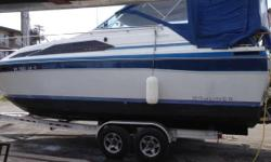 Please call owner Craig at 315-397-2829 or 315-778-4170. Boat is in Alexandria Bay, New York. For sale a 1987 Bayliner Cierra 2750,the boat runs and drives as it should,it was just serviced and is in the water. It has a new charger,bathroom