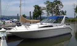 Please contact owner Mark at 203-733-three one two six. Boat is located in Stony Point, New York. New Camper top, new hot water heater, outdrive and transom service completed Fall 2014, new holding tank, electric head, new upholstery and cushions in
