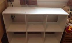 Being sold in used as is condition. Does not come with cubes. White cube organizer already assembled. Great for kids rooms or for use as a bookshelf. Price is firm, buyer must pick up.
