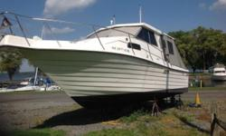 "Please call owner Joe at 845-797-7354. Boat is in Port Ewen, New York. This is a very low time boat with only about 215 total hours, all fresh water, sleeps 2. interior freeboard is 27"", aft cockpit 142 square feet, hardtop, headroom 80"", other features"