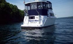 Please call owner Larry at 607-426-4347. Boat is in Watkins Glen, New York. Excellent condition. 720 hrs, Two cabins each with full bath. Galley with full size refrigerator ,freezer,electric stove,microwave ,coffee maker. Bridge has radio ,auto