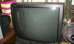 Items for sale separately or as a set! RCA 36? TV. Built in Guide+. Great picture. TV stand for large TVs. Black with 2 glass doors on the front. Plenty of room for equipment and game consoles. TV alone- $50.00 TV Stand Alone- $25.00 Call 585-943-9786.