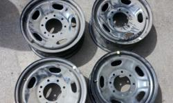 "4 Ford 17"" Steel Rims 8 lug Very good condition. Call 585-490-0392"