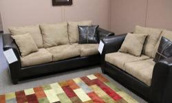 Brand New Sofa Sets Just $500!!! Matching Table Sets $100!!! We are starting to get out of our normal realm of financing and offering HUGE SAVINGS on Cash N' Carry items!
