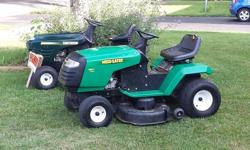 I currently have 5 different rider mowers for sale. There priced from 300-600. I have different models, engine sizes and cutting decks. Im confident I have one that will suit your needs. Call me for more info on them. The pics I posted are a few that I
