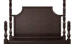 "Postobello Home Collection by Drexel Heritage 6-pc Bedroom Set Includes : Byron Bed (King Size) 81""H x 83""W x 88"" D Note: To Have Short Posts on Footboard Tall Posts Can Be Removed; (2) Nights Stands 32""H x 28""W x 19""D with (1) Drawer and (2) Shelves per"