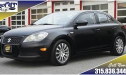 All wheel drive traction and great fuel economy are yours in this extra-clean 2010 Suzuki Kizashi Sedan! You will find many luxury features in this car such as a three position memory power driver seat, dual zone climate control, and much more. More