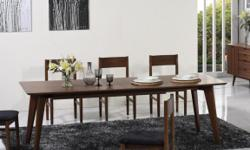 Quick and FREE Shipping within New York City. For more information call us or visit our page:https://www.furniturenyc.net/dining-sets.html Add functionality to your dining room with this stylish dining set in warm walnut finish. This charming set includes