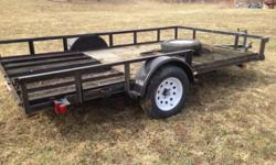 Barely used Atv trailer bought in 2009 at tractor supply has extra tire the my model has an 8 ft 9 in wide bed almost the same in the price photo This ad was posted with the eBay Classifieds mobile app.