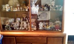 Hi I have a beautiful china cabinet that assembles in 2 parts measurements are 6.5 tall x4.5 long x1.5 feet w It has lights on the inside that turn on. A lot of storage for your nic nacs or what you choose to put in there. Selling because moving and I