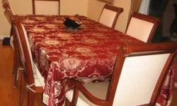 Beautiful Fine Cherry dining table with 6 chairs - in great condition! MUST GO!