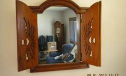 This stunning floor mirror is from Ballard Designs. I bought it when I lived in a bigger Loft Apt. and now it is too big for my new space. it has an easel type kick stand in back and beautiful curved top. A very Vintage Art Deco feel