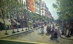 Beautiful Maurice Utrillo U print in a real wood frame professionally double matted. This is beautiful scene and is a must see.. Picture measures 28.5w x 36L Cash and pick up only. provide your PHONE number or NO response