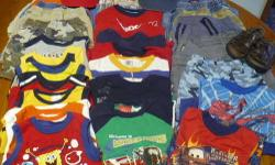 Very nice lot of Boys Summer Clothes size 4T. All from smoke free home and in very good used condition. There is a lot of wear left in these for some little boy. There are brands from The Childrens Place, Oshkosh, Old Navy, Disney, etc. Offering entire