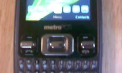 This is a BRAND NEW, Samsung Freeform MetroPCS cell phone, It has been used for maybe a week, and then I got my upgrade on my plan for another phone. I paid $80.00 Retail. It is a great cell phone works perfect. Slim and lightweight. Good music playback.