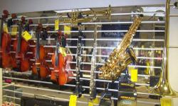 We have new and used brass and woodwind instrument for sale. We also offer used instruments for school rentals. Brass instruments include Trumpet and Trombone. Woodwinds include Flute, Clarinet, and Saxophone. Rentals as low as $159.99 for a 10-month