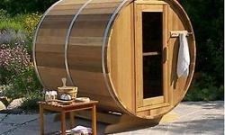 Take Advantage of our Amazingly Affordable Canadian Prices & SAVE! www.BARRELSAUNAS.ca Many designs and sauna options including: - Wood Heaters - Electric Heaters - Cove Overhang - Windows - Front Porches - Change Rooms Browse our sauna designs online and