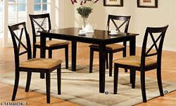 5-Piece Dining Set In Dark Cherry Finish. This Set Includes The Dining Table With An 18-Inch Leaf And Four Upholstered Side Chairs. Also Available(Not Included In Price) Matching Arms Chairs. Additional Side Chairs Can Also Be Purchased Separately. Made