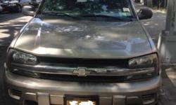 I am selling a Chevrolet TrailBlazer 2002 Mileage 135000 Everything running great. Has a small dent in the back nothing serious. Clean inside. Come Check it out. I am located by Queens Center Mall You can contact me at: 347-813-6851