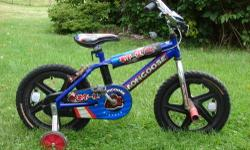 "** ALL ITEMS ARE AVAILABLE, THEY WILL BE REMOVED FROM THIS AD WHEN SOLD. MONGOOSE BOY'S 16"" BMX BIKE WITH PEGS, TRAINING WHEELS, BOTH PEDAL & HANDLE BRAKES. PRACTICALLY NEW - NUBS STILL ON TIRES. EXCELLENT CONDITION. BIKE LOOKS BETTER THAN PICTURED,"