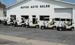2006, 2008, 2009 & 2010, 2011- PRECEDENT CLUB CARS, GOLF CARS. CANOPY TOP, BASKET, FLIP DOWN WINDSHIELD, BATTERY CHARGER... EXCELLENT CONDITION... LIMITED SUPPLY...CALL TODAY...315-778-2506...BOYCE AUTO SALES, EAST MAIN STREET, BROWNVILLE,NY 13615...
