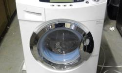 "ITEM # HWD101 Compact Combo Washer and Dryer New Out Of Box! Only $375 Model # Haier HWD1600BW MSRP $1099 NEW OUT OF BOX UNIT WITH FACTORY WARRANTY AND VERY MINOR BLEMISHES (SEE PICS) Specifications: Weight: 193.6 lbs Dimensions: 33.44"" H x 23.44"" W x"
