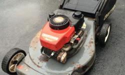 This is a rear bag mulcher with NO self propelled and a4.5 hp engine. runs well. 845-222-4562