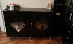 2 Door cabinet black finish $200 4 Door cabinet black finish $400 Tv stand entertainment stand black finish $400 Also available a bed, dressers, chests, armoires, dining room set w 4 chairs,a bar with 2 stools and other pieces of furniture and home decor.