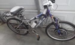 "Item is used working condition needs some care. Has a broken brake lever and flat/new/rear tube. This is a 36V Ebike conversion kit with size, 24"" girls Roadmaster mountain bike. Battery not offered in sale. May use 36v arrangement SLA, NiMH or Li-Ion"