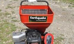 "Heres a literally brand-new ""EARTHQUAKE""compact 11.5hp chipper-shredder..its several years old but has never been ran (still has hang tag on it!)..i put gas & oil in it for the first time sat..its a little dusty from sitting around but runs/works"