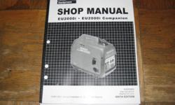 Covers EU2000i / Companion Generator Part# 61Z0700 E9 NINTH EDITION FREE domestic USA delivery via US Postal Service FLAT RATE FEE for all non-US orders will be sent using Air Mail Parcel Post, duty free gift status, 7-10 business days for delivery;
