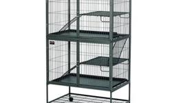 Ferret Nation cage with cover and small playpen with mat. Bottom shelf on cage does need to be welded since it's broken on one corner. $150.00 for all. PICK UP ONLY.