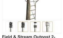 I am selling a new field and stream outpost 2 person elite tree stand. The stand was a store display model and is already assembled however it has never been used. The pictures provided are stock photos of the stand however this stand does not come with