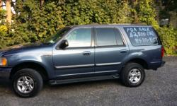 I have a Ford Expedition 2000 XLT blue, for sale. The SUV is in great condition. Includes a Remote Start System and alarm. I need to sell it ASAP moving out of the state to start graduate school. I ask $2800.00 or best offer. It has a clean title. Feel