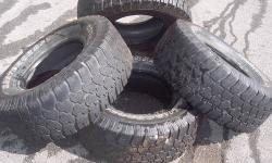 "I have four (4) USED Mastercraft Courser C/T LT305/70R16 M+S rated tires for sale. Tires must be mounted on 16"" rims. Manufacturers Overview Description: The Courser C/T is a premium all-purpose traction tire. The C/T's design is a hybrid of all-terrain,"