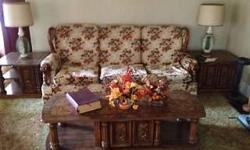 $100.00 . SOLID COFFEE TABLE - (2) END TABLES (SOLD THE COUCH). ALSO, FOR SALE IS AN OLDER STYLE KITCHEN TABLE WITH (6) CHAIRS $50.00. OTHER THINGS FOR SALE - TO MUCH TO LIST. THANKS FOR LOOKING !! CALL OR TEXT JIM @ (315) 836-5952 !!