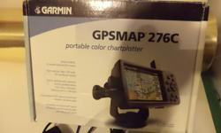 GARMIN GPSMAP 276C PORTABLE COLOR CHART PLOTTER LIKE NEW.THIS IS IN LIKE NEW CONDITION.THIS WAS USED ONLY ONCE & MY FRIENDS BOAT WAS THEN SOLD.THIS SOLD NEW WELL OVER 200.00 SO MY PRICE IS CHEAP.THIS IS ALL COMPLETE & LIKE I STATE IN LIKE NEW