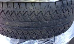 Four Goodyear Assurance All Season Tires Size: 215/55/17 The tires were removed from a 2011 Chevy Cruz to install snow tires. The tires have approximately 14,000 miles-see the attachment titled 0803 which shows the tread depth relative to the wear bar.