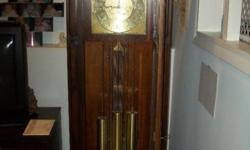 This is a Herschede Grandfather Clock in great condition. Serial number 13830 dates back to 1923. Model number of this piece is 7603-W21. For a brief history on the Clocks origin please visit http://www.abbeyclock.com/history.html