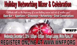 Join us and bring your holiday spirit to WNFP Holiday Networking Mixer & Celebration for an evening of networking, mingling with friends, making new connections, some laughs and great conversations with business owners, professionals and entrepreneurs