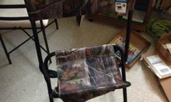 Hunting chair with back for sale plz txt 3159555021 if interested... Asking $60 obo or trade looking for oakleys other hunting fishing gear some electronics This ad was posted with the eBay Classifieds mobile app.